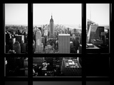 Window View  Skyscrapers and Empire State Building Views  Midtown Manhattan  Hudson River  New York