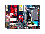 Advertising on Times Square  Manhattan  New York City  US  White Frame  Full Size Photography