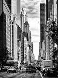 Urban Scene  Architecture and Buildings  Midtown Manhattan  NYC  USA  Black and White Photography