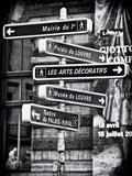 Signpost  the Louvre  Paris  France