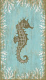 Seahorse Right Wood Sign