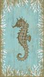 Seahorse Left Wood Sign