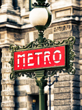 Classic Art  Metro Sign at the Louvre Metro Station  Paris  France
