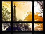 Window View  Special Series  Eiffel Tower at Sunset  Paris  France  Europe