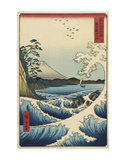 The Sea off Satta in Suruga Province (Suruga Satta kaij), 1858 Reproduction d'art par Ando Hiroshige