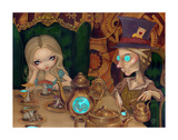 Alice and the Mad Hatter Reproduction d'art par Jasmine Becket-Griffith