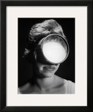 Portrait of a Woman Wearing a Scuba Diving Mask