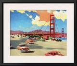 Highway over the Golden Gate Bridge