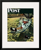 """On Leave"" Saturday Evening Post Cover  September 15 1945"