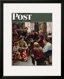 """Homecoming Marine"" Saturday Evening Post Cover  October 13 1945"