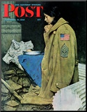 """Refugee Thanksgiving"" Saturday Evening Post Cover  November 27 1943"