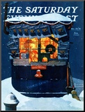 """Newsstand in the Snow"" Saturday Evening Post Cover  December 20 1941"