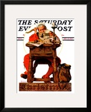 """Santa at His Desk"" Saturday Evening Post Cover  December 21 1935"