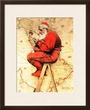 """""""Santa at the Map""""  December 16 1939"""