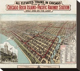 Elevated Trains in Chicago  c 1897