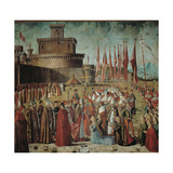 Legend of St Ursula the Pilgrims Meet the Pope Under the Walls of Rome