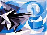 Pessimism and Optimism Reproduction d'art par Giacomo Balla