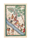 Brahmins bless the water Drawing of Indian subject commissioned by Niccolao Manucci 18th c