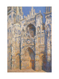 Rouen Cathedral  Morning Sun  Harmony in Blue