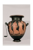 Red-Figured Attic Clay Hydria with Dancing Maenads  5th c BC Archaeological Museum Naples  Italy