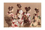 Felice Beato  Japanese Girls in Traditional Dresses  1863-1877 Brera Gallery  Milan  Italy