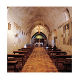 Convent of San Damiano  interior  13th c Assisi  Italy