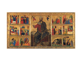 St John Enthroned and Stories of his Life  Master of the St John the Baptist Panel  13th c Italy
