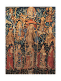 Flemish Tapestry of St Francis' Tree  1471 - 1472  Assisi  Italy