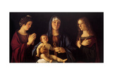 Virgin with Child and St Catherine and Magdalene