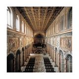 St Mark's Basilica  336  4th c Interior view of nave toward alter  Rome  Italy