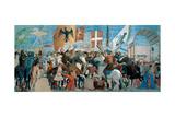 Legend of the Cross  Battle of Heraclius & Chosroes  Piero della Francesca  1452-62 Arezzo  Italy