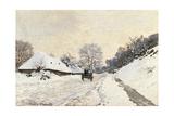 Cart Route in the Snow  near Honfleur