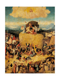 Tryptych of Hay  (Full view  central panel  open) by Hieronymus Bosch c1500-02  Prado Detail