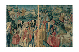 Tapestry with Hunting Scene  Flemish  1470-1480 Urbino  Italy