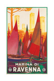 Travel Poster for Marina di Ravenna  Italy