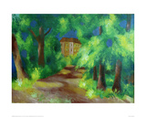 Red house in a park 1914
