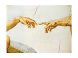 The Creation of Adam  from the Sistine Ceiling  1510 (Detail)