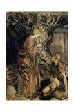 Siegmund and Sieglinde  Illustration from 'Rhinegold and the Valkyrie' by Richard Wagner
