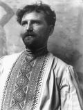 Alphonse Mucha (1860-1939) Wearing a Russian Shirt  c1896