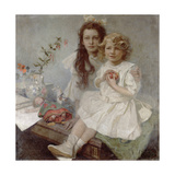 Jaroslava and Jiri - the Artist's Children  1918