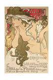 Poster Advertising the Salon Des Cent Exposition at the Hall De La Plume  1896