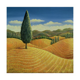 Cypress Tree and Cornfields  1990