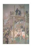 Jan Milic of Kromeriz (D1374)  from the 'Slav Epic'  1916