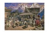 Puja at Chini Bashahr  Himalayas  c1859-66