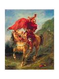 Arab Horseman Giving a Signal