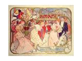 Poster Advertising 'Amants'  a Comedy at the Theatre De La Renaissance  1896