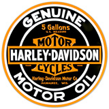 Harley-Davidson® - Oil Round Embossed Tin Sign