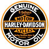 Harley-Davidson® - Oil Round Embossed Tin Sign