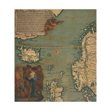 Map of Iceland  Scotland  Norway and Sweden