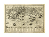 Antique Map Of Messina The Town Of Sicily Separated From Italy By The Strait Of The Same Name